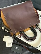 NWT Coach Rogue 31 Oxblood with Black Copper & Whipstitch Handles 58116 $850