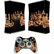 hot Sexy Girls Skin decal Skin Sticker case cover for xbox360 slim Console TS03