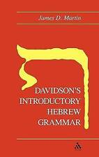 Davidson's Introductory Hebrew Grammar, Acceptable, James D. Martin, Book