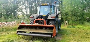 Tractor and Flail Mower / Topper / Mulcher Hire Grass Cutting / Paddock Topping