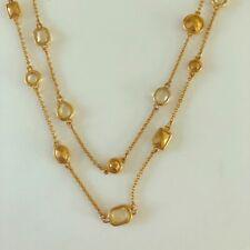 Stella & Dot Gold bead Layered Necklace