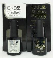 Cnd Shellac Gel Nail Polish LARGE size - Choose Any Base/Top Coat - 0.5oz