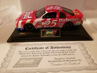 1996 1/24 Revell Collection Ken Schrader #25 Budweiser Diecast Car