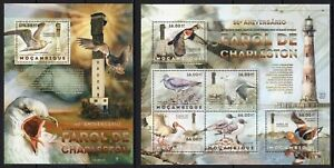 MOZAMBIQUE 2012 50 ANIVERSARI DE CHARLESTON LIGHTHOSE MARINA SEABIRDS STAMPS MNH