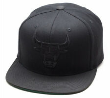 Mitchell & Ness Chicago Bulls Snapback Hat All Black/Black/Ballistic Nylon Visor