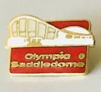 Olympic Saddledome Stadium Cycling Olympics Pin Badge Vintage Authentic (H10)