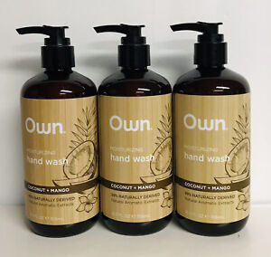 3 Bottles Own ~ Coconut & Mango Moisturizing Hand Wash 12 fl oz Each