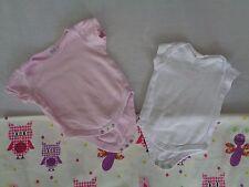 2 süße Baby Body Baumwolle Gr. 62 / 68 Baby Club C & A + F&F Baumwolle