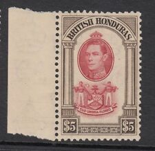 BRITISH HONDURAS. SG 161, $5 SCARLET & BROWN. UNMOUNTED MINT.