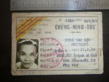 Id Card - Poetry Writer - Saigon D4 - Dinh Van Loc - 1971 - Vietnam War, 2603