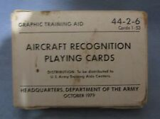 Vintage Aircraft Recognition Training Aid Playing Cards U.S. Army 1979 Sealed