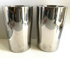 2 Crate & Barrel Double Wall Cast Aluminum Wine Table Top Coolers Deco-style