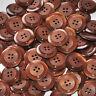 lot de 5 boutons ronds plastique marron noisette 22mm button