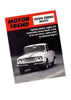 1966 Toyota CORONA Road Test Brochure / Catalog / Flyer / Pamphlet (Motor Trend)