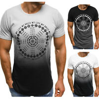 Men's Slim Fit O Neck Short Sleeve Muscle Tee T-shirt Casual Tops Summer Blouse