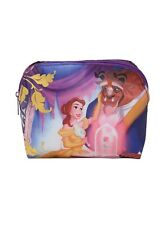 Disney Beauty And The Beast Belle Rose Gold foil Cosmetic makeup bag Loungefly