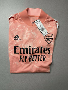 New Adidas Men's ARSENAL Ultimate Training Soccer Jersey  Coral Sz Large FQ6201