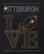 Pittsburgh Steelers Football Love Rhinestone Iron on Transfer             DHWO
