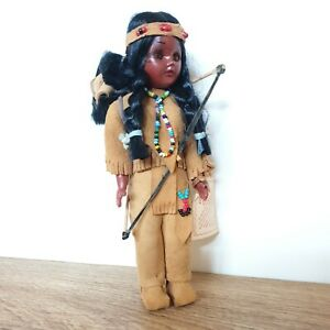 Vintage NATIVE AMERICAN INDIAN Girl - Carlson Dolls No. 1245 1960s Closing Eyes