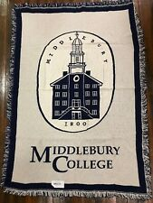 Middlebury College Vermont 1800 panthers Woven Stadium Blanket Throw NEW RARE