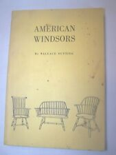 American Windsors by Wallae Nutting Book 1917 Vintage Chairs