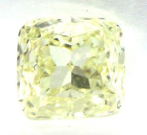 1.56 Karat Natürlich Kostüm Hellgelb VS1 GIA Zertifiziert Kissen Schnitt Diamant