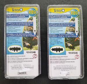Lot of 2 - Tetra RB9 9 Watt UV Clarifier Replacement Bulbs
