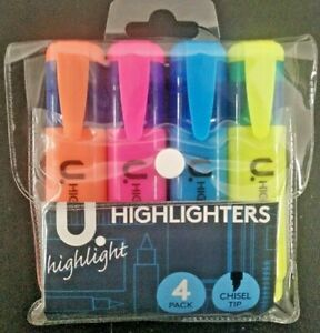 Highlighters 4 PCS Assorted Chisel Tip
