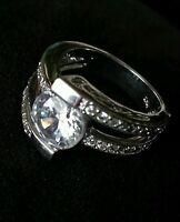 Vintage ladies sterling silver ring, size 6/16.5 mm, Stamped 925, 6 grams