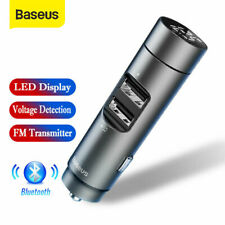 Baseus Wireless Bluetooth Handsfree FM Transmitter MP3 Player USB Car Charger