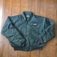 Mens Vintage Schott CWU-R Flight Jacket Bomber Khaki Green Medium M Military