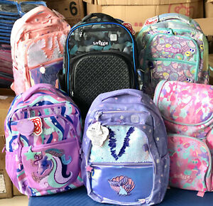 ❤ ❤ ❤ Girls SMIGGLE Backpack School Bag rabbit Fluffy Mermaid Dogs large bag