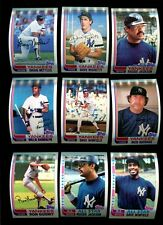 1982 TOPPS BASEBALL NEW YORK YANKEES COMPLETE TEAM SET OF 42 CARDS MINT *INV2358