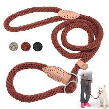Strong Dog Leash Nylon Rope Slip Lead 5ft Braided Heavy Duty Pet Training Leash