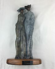 """Bronze, """"Embrace"""" Artist Guilloume Master Of Bolismo 14.5"""" Tall X 7.5"""" Wide"""