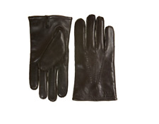 HUGO BOSS Haindt Leather Large Plain Brown Gloves - Brand New With Tags