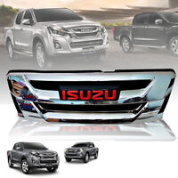 FRONT GRILL GRILLE CHROME LOGO RED FIT FOR ISUZU D-MAX DMAX 2015-2017