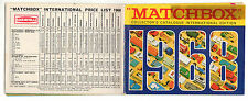 CATALOGO  GIOCATTOLI  MATCHBOX    IN  INGLESE  1968