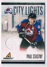 2010-11 PINNACLE CITY LIGHTS PAUL STASTNY JERSEY 1 COLOR 219/499 CS #12