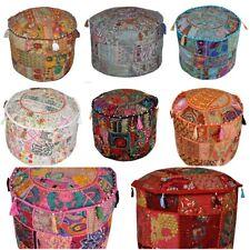 Handmade Patchwork Pouffe Wholesale Lot Ottoman Footstool Khambari Vintage Stool