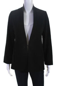 Giorgio Armani Womens Hook Closure Blazer Jacket Black Size EUR 40