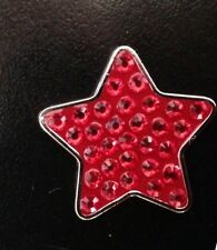 Magnetic Swarovski Crystal Ball Marker Red Star