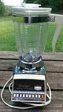 Vintage Imperial Osterizer Oster Chrome 10 Speed Beehive Pitcher Blender 668 USA