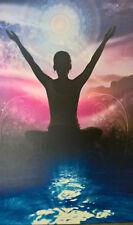 "Hanging Art Print Serenity Yoga Art NEW!16""X12"" NEW! Peaceful Art Zerenity"