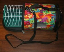 Super Pet Come Along Carrier Vinyl Interior Cage Bright Colors Med / Sm Size NEW