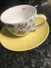 cath kidston highgate rose Cup And Saucer Yellow