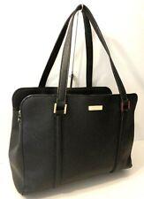Kate Spade Black Saffiano Leather Tote Office Shopper Shoulder Bag Purse