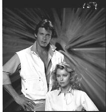 FAYE GRANT MARC SINGER V THE VISITORS RARE ORIGINAL 1984 NBC TV PHOTO NEGATIVE