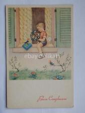MARIAPIA Maria Pia Tomba bambini old postcard cartolina buon compleanno 2 *