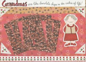 """MME /CADD """"GRANDMA'S ARE LIKE CHOCOLATE CHIPS ..."""" DIE CUT PAGE KIT 12 X 12"""